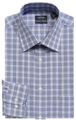 Arrow Regular Fit Plaid Broadcloth Dress Shirt