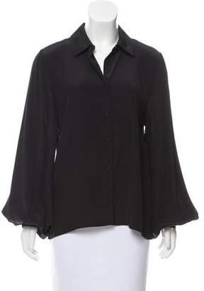 Alexis Silk Long Sleeve Top w/ Tags