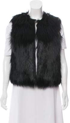 Derek Lam Fur Collarless Vest w/ Tags