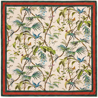 Tropical print silk scarf $465 thestylecure.com