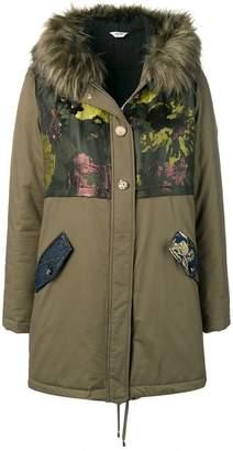 Liu Jo jacquard panel parka coat