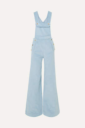 Anna Mason - Bay Cotton-corduroy Overalls - Blue