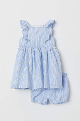 H&M Dress and puff pants