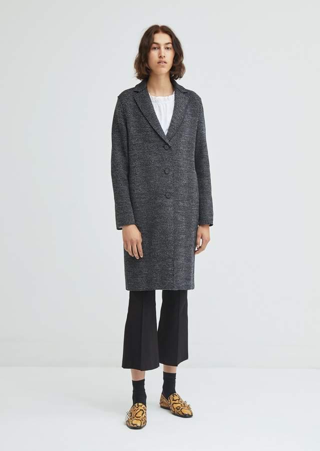 Herringbone Wool Overcoat
