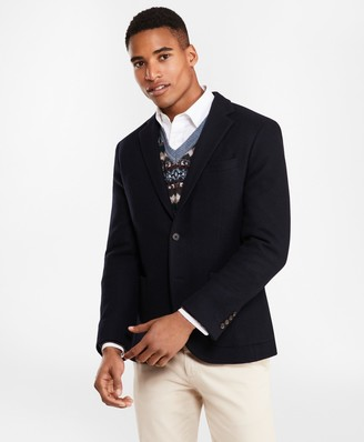 Brooks Brothers Two-Button Wool-Blend Jersey Blazer