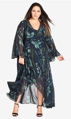 City Chic Citychic Moody Floral Maxi Dress