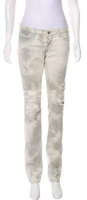 J Brand Zombie Distressed Mid-Rise Jeans