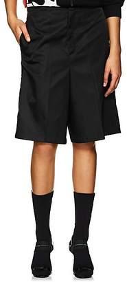Prada Women's Tech-Twill Bermuda Shorts - Black