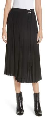 Robert Rodriguez Asymmetrical Pleated Midi Skirt