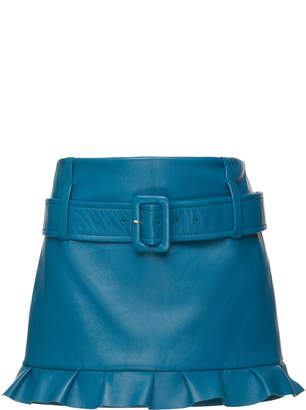 Prada Leather Mini Skirt Size: 38