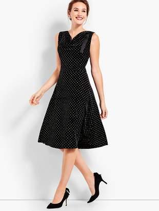 Talbots Shimmering Velvet Fit & Flare Dress