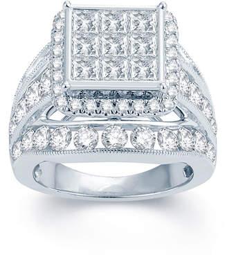 MODERN BRIDE 5 CT. T.W. Diamond 14K White Gold Multi-Top Engagement Ring 1