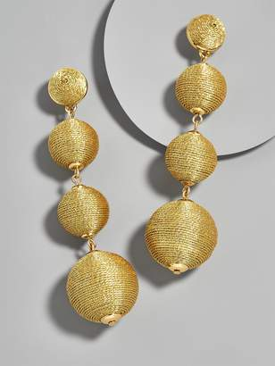 BaubleBar Criselda Ball Drop Earrings-Metallic Gold