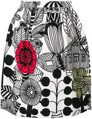 Junya Watanabe cartoon print skirt