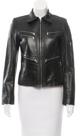DKNYDKNY Fitted Leather Jacket