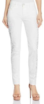GUESS Sexy Curve Lace-Trimmed Skinny Jeans