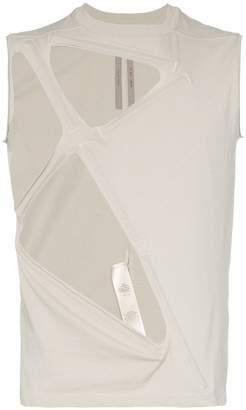 Rick Owens geometric hole sleeveless tank top