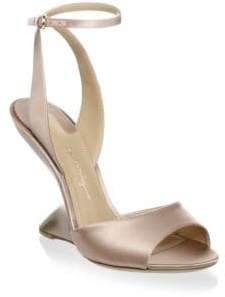 Salvatore Ferragamo Satin Ankle Strap Sandals