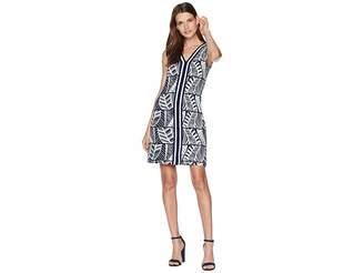 Tommy Bahama Leaf Line V-Neck Shift Dress
