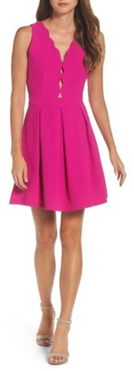Women's Adelyn Rae Scalloped Fit & Flare Dress $84 thestylecure.com