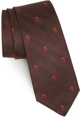 Alexander McQueen Woven Silk Tie