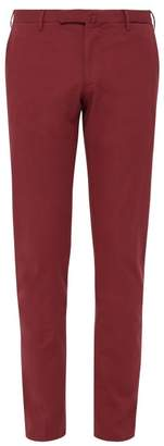 Incotex 1951 Slim Leg Stretch Cotton Chino Trousers - Mens - Red