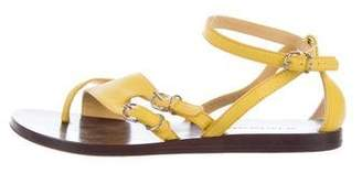 Balenciaga Leather Buckle-Accented Sandals