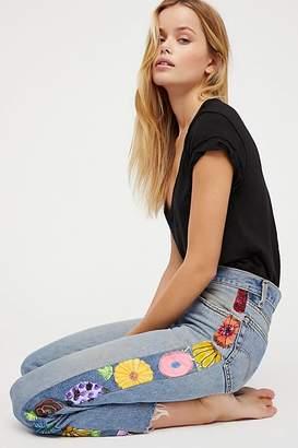 Rialto Jean Project Embroidered Tuxedo Jeans