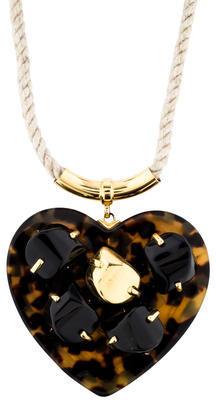 Tory BurchTory Burch Tortoiseshell Heart Pendant Necklace