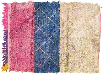 One Kings Lane Vintage Moroccan Boucherouitte Rug