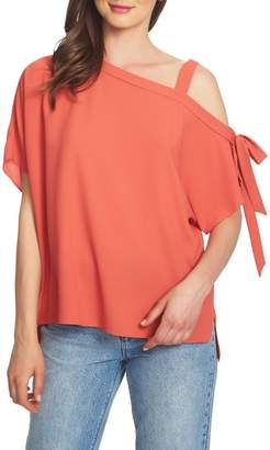 1 STATE 1.STATE One-Shoulder Tie Sleeve Top