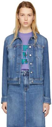 Acne Studios Bla Konst Blue Denim Cliff Jacket