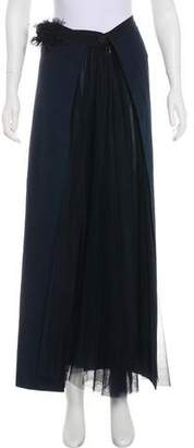 Chanel Mesh-Accented Maxi Skirt