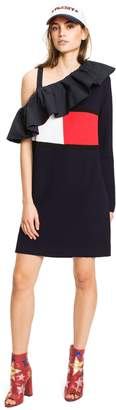 Tommy Hilfiger Off-Shoulder Ruffle Dress