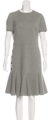 Akris Punto Scoop Neck Knee-Length Dress