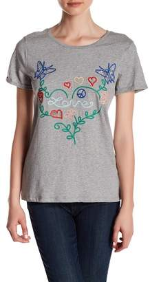 Romeo & Juliet Couture Knit Embroidered Love Tee