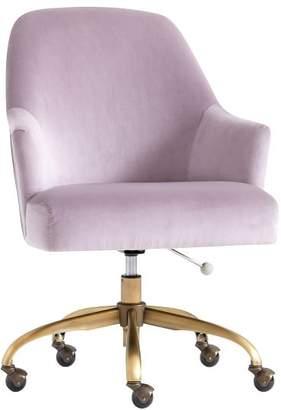 Pottery Barn Teen Pleated Desk Chair, Luxe Velvet Dusty Lavender