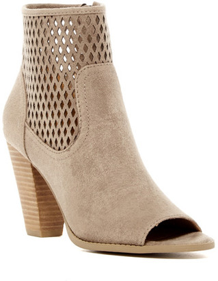 Report Rajin Perforated Peep Toe Bootie $60 thestylecure.com