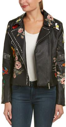 Bagatelle Embellished Biker Jacket