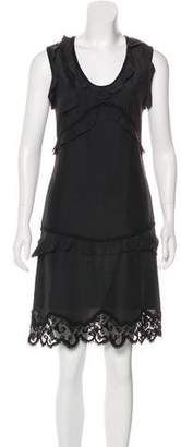 Rochas Silk-Blend Mini Dress