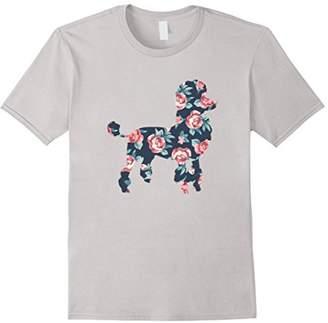 Poodle T-Shirt Floral Design