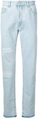 Marcelo Burlon County of Milan graphic jeans