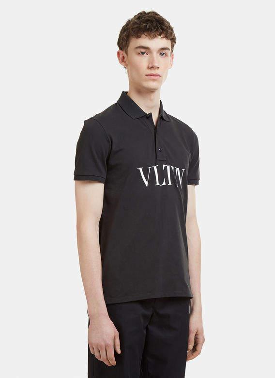 Buy VLTN Polo Shirt in Black!