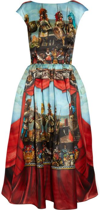 Dolce & Gabbana Printed silk-organza dress