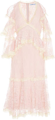 Blumarine Open Shoulder Lace Dress