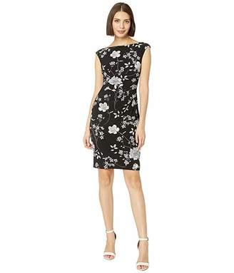 Lauren Ralph Lauren B809 Havasu Floral Matte Jersey Novellina Cap Sleeve Day Dress