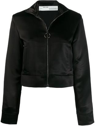 Off-White contrast stripe zip-front jacket