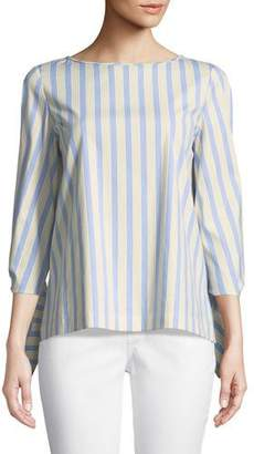 Lafayette 148 New York Elaina Multi-Stripe Blouse