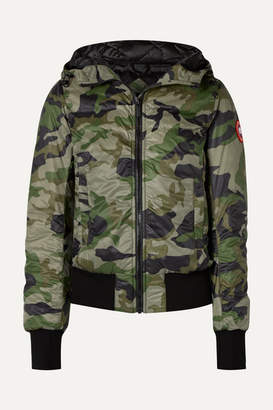 Canada Goose Dore Camouflage-print Hooded Shell Down Jacket - Army green
