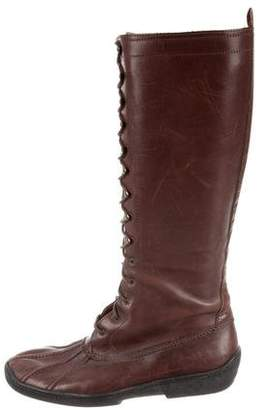 Ralph Lauren Leather Lace-Up Boots
